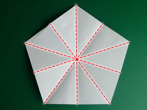 5 pointed origami star preliminary creases
