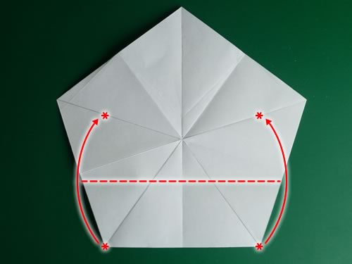5 pointed origami star step 1