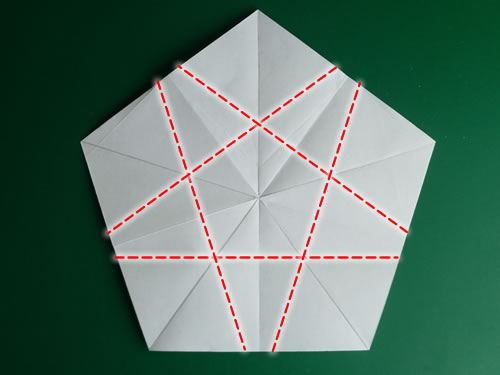 5 pointed origami star step 1d
