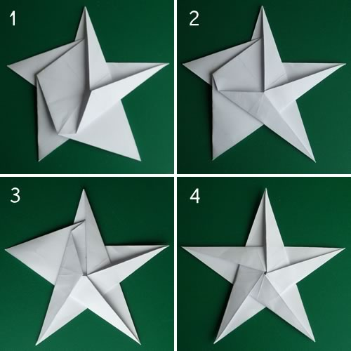 Incredible Folding 5 Pointed Origami Star Christmas Ornaments Hairstyle Inspiration Daily Dogsangcom