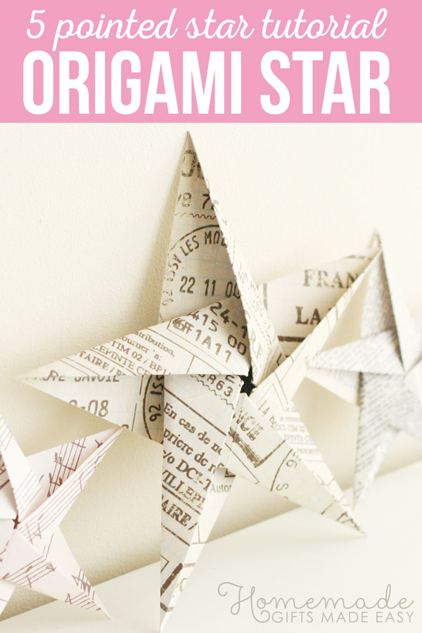 Folding 5 Pointed Origami Star