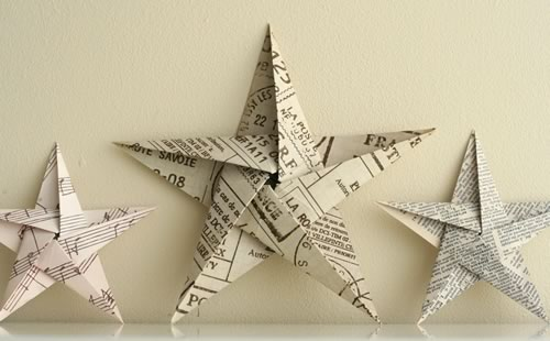 5 pointed origami star decoration
