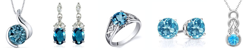 5 year anniversary gift blue topaz jewelry