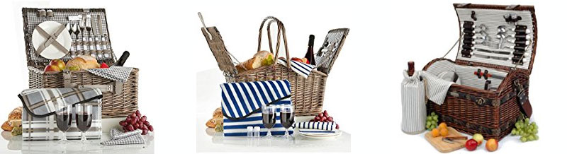 5 year anniversary gift wicker picnic basket