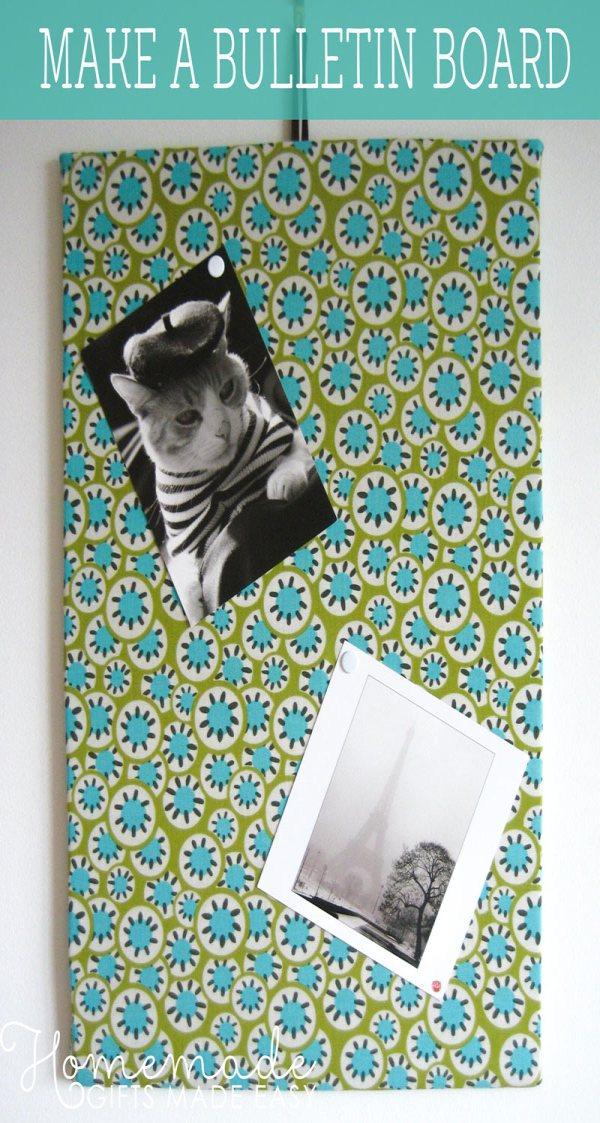homemade birthday gift make a bulletin board