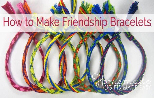 homemade birthday gift friendship bracelets