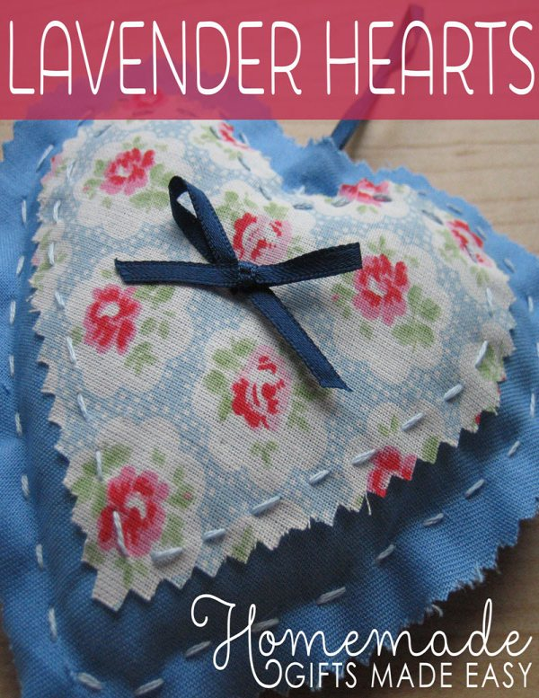 homemade birthday gifts to sew lavender heart