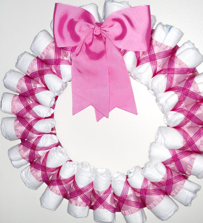 diaper wreath pink sarah