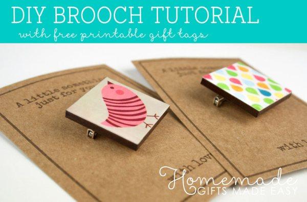 diy brooch pin tutorial