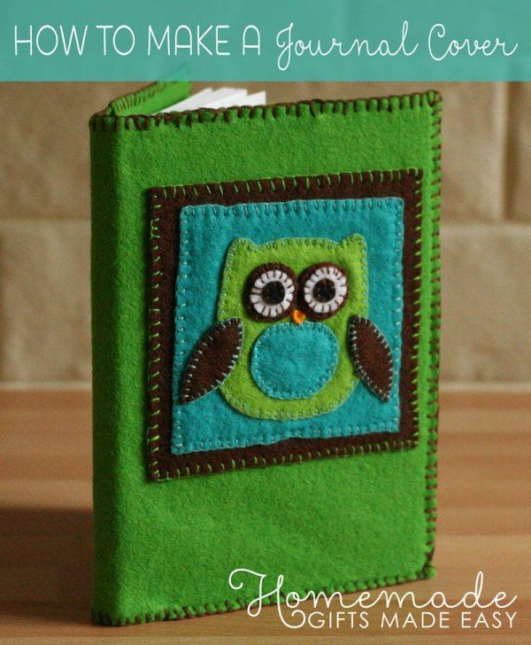 homemade birthday gift felt journal cover