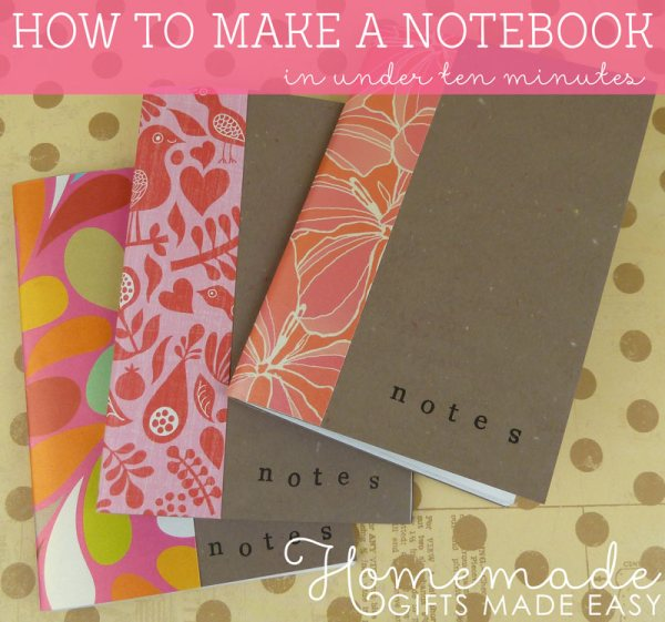 Homemade Birthday Gift How To Make A Notebook