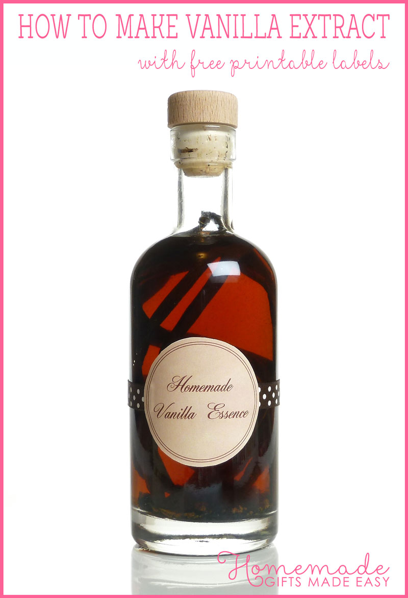 homemade birthday gift vanilla extract