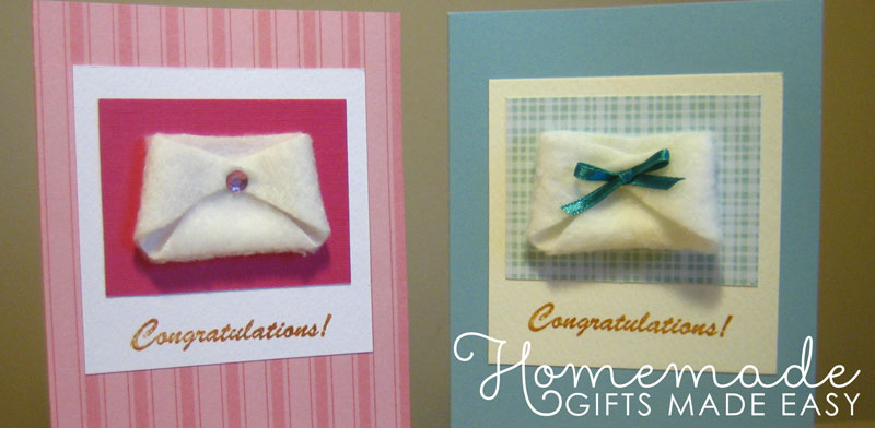 homemade baby gifts diaper card