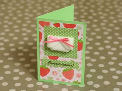 baby card ideas strawberry diaper card