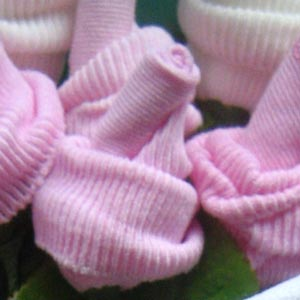 Baby sock rose