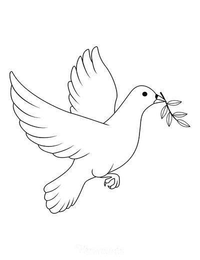 Bible Coloring Pages Christian Dove