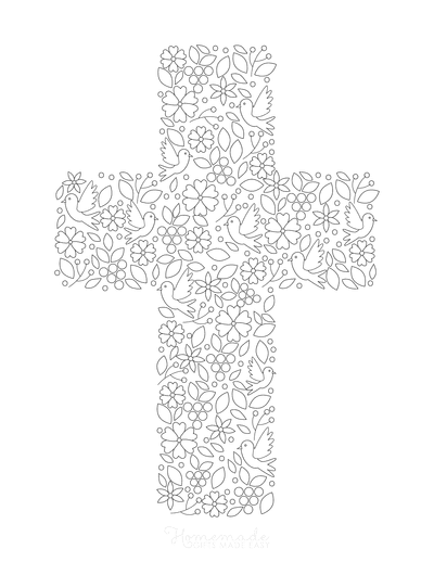Bible Coloring Pages Cross Doodle for Kids