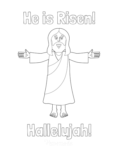 Bible Coloring Pages He Is Risen Hallelujah
