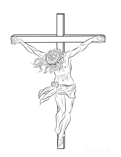 Bible Coloring Pages Jesus Crucifixion