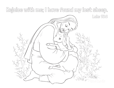 Bible Coloring Pages Jesus Lost Sheep Luke 15 6
