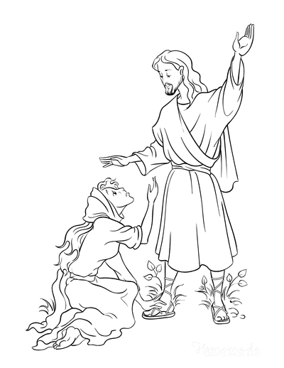Bible Coloring Pages Jesus Mary Magdalene