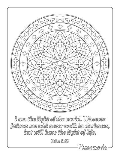 Bible Coloring Pages Mandala