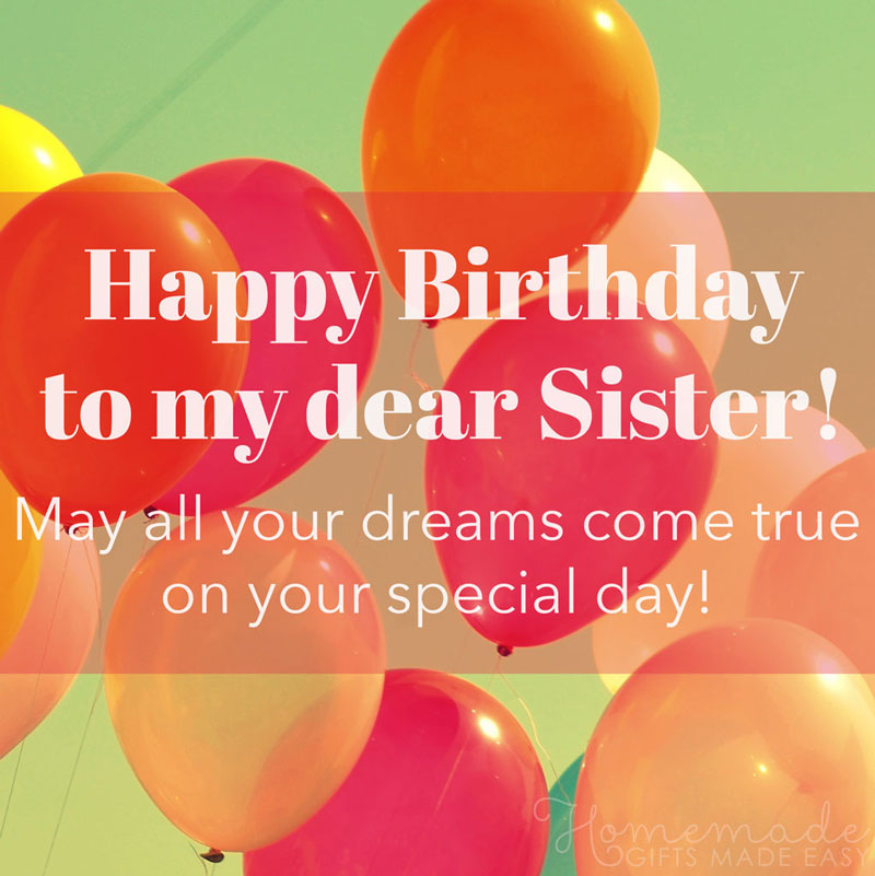 Fabulous 150 Happy Birthday Wishes For Sister Find The Perfect Quote Or Funny Birthday Cards Online Inifofree Goldxyz