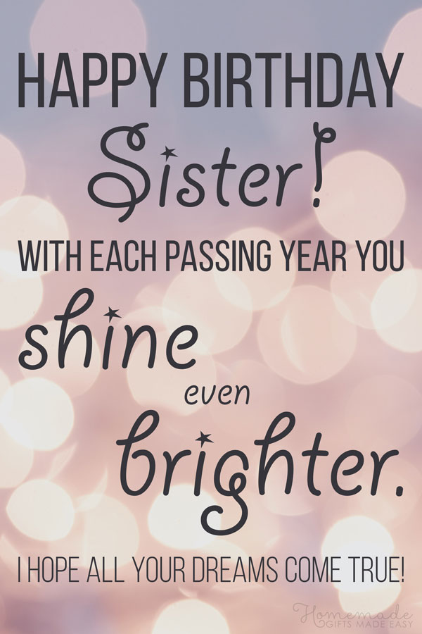 Magnificent 150 Happy Birthday Wishes For Sister Find The Perfect Quote Or Funny Birthday Cards Online Inifofree Goldxyz