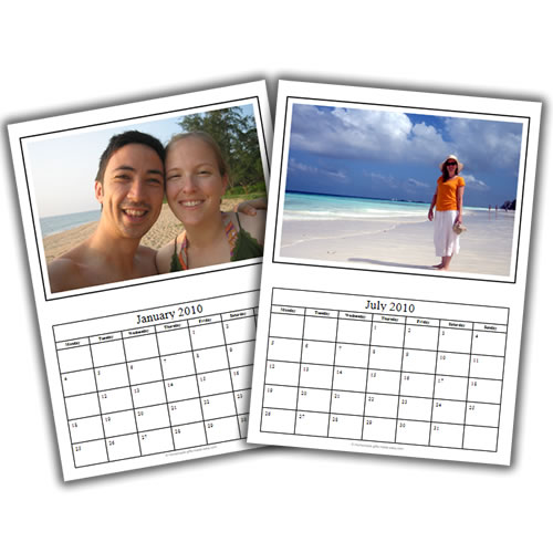 homemade boyfriend gift ideas photo calendar template