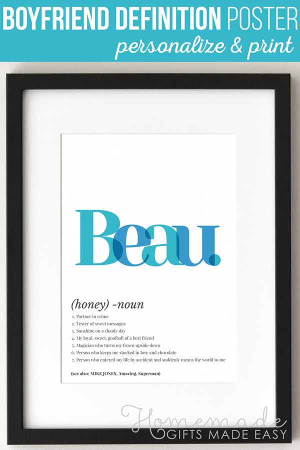 Make a beau definition art poster using this easy online poster generator