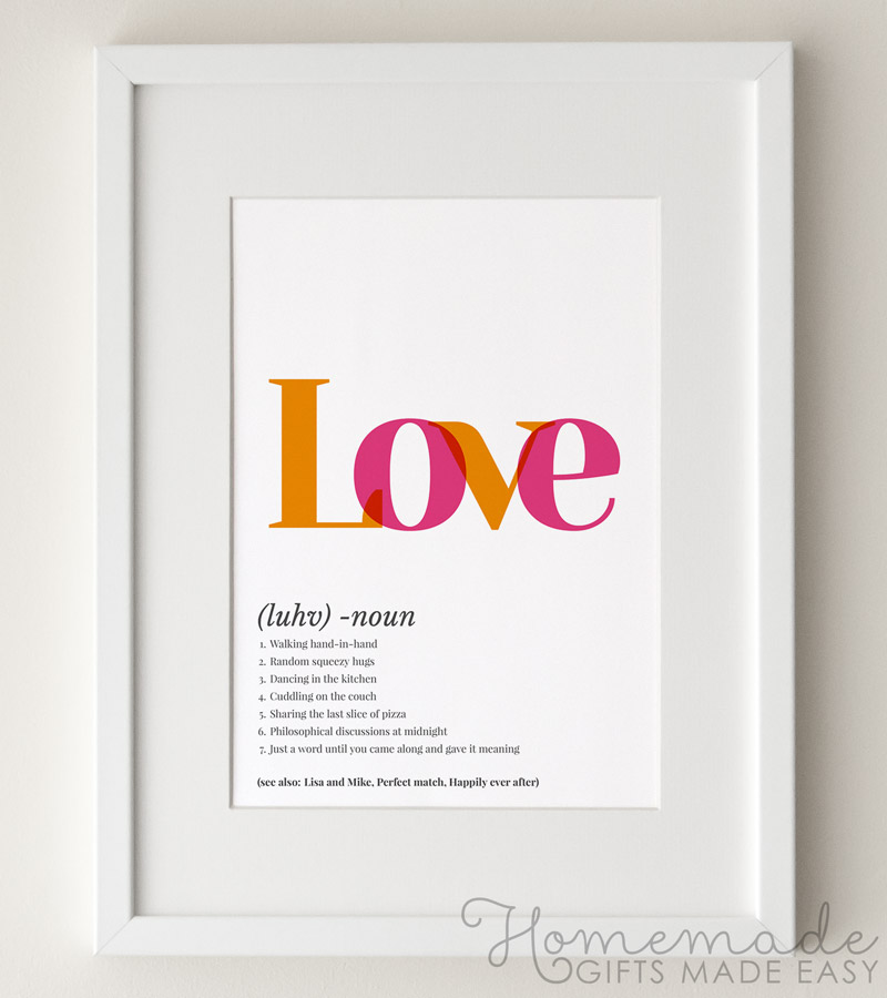 love definition art poster