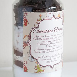 last minute christmas gifts brownies in a jar