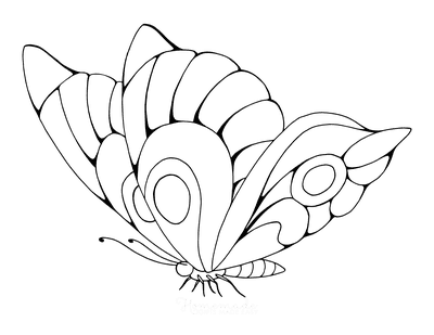 Butterfly Coloring Pages Beautiful