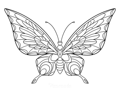 116 Best Butterfly Coloring Pages Free Printables For Kids Adults