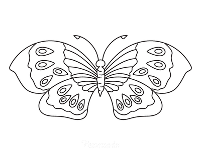 Butterfly Coloring Pages Eye Spots