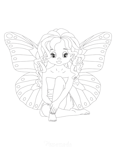 Butterfly Coloring Pages Girl Butterfly Fairy