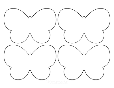 Butterfly Coloring Pages No Antennae Template 4 Small