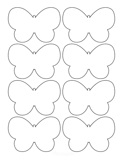 Butterfly Coloring Pages No Antennae Template 8 Small