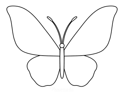 Butterfly Coloring Pages Outline 1