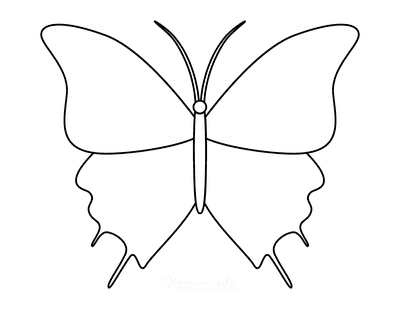 Butterfly Coloring Pages Outline 12