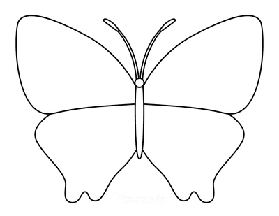 Butterfly Coloring Pages Outline 13