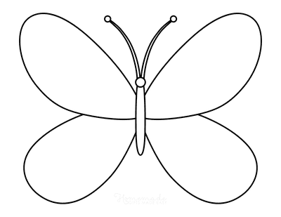 Butterfly Coloring Pages Outline 14