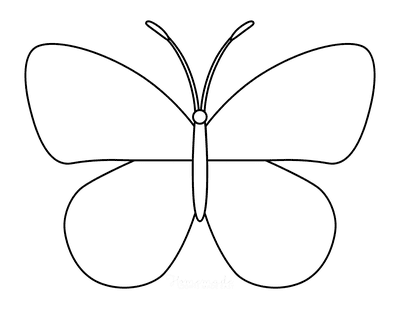 Butterfly Coloring Pages Outline 16