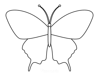 Butterfly Coloring Pages Outline 2