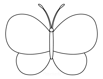 Butterfly Coloring Pages Outline 5