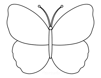 Butterfly Coloring Pages Outline 6