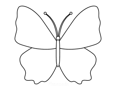 Butterfly Coloring Pages Outline 7