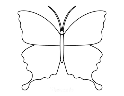 Butterfly Coloring Pages Outline 8