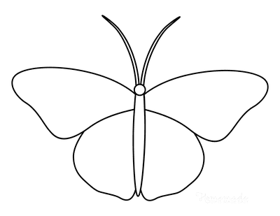 Butterfly Coloring Pages Outline 9