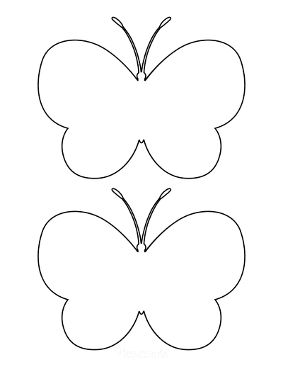 Butterfly Coloring Pages Outline Template 2 Medium